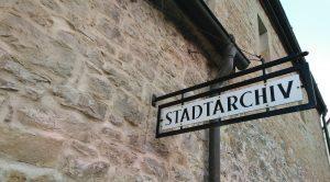 Besuch im Vaihinger Stadtarchiv